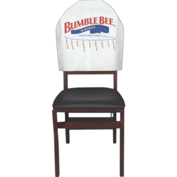 Customized Banquet Style Disposable  Advertising Chair Headrest Cover