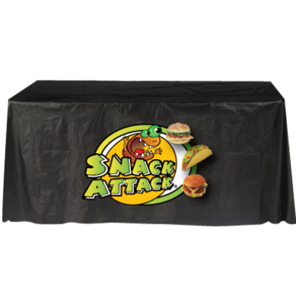 Printed Full Color Disposable Plastic Table Covers