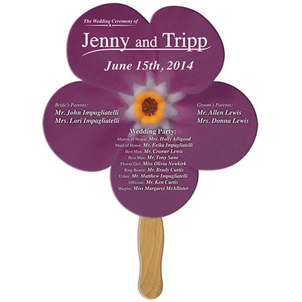 Personalized Daisy flower offset printed fan