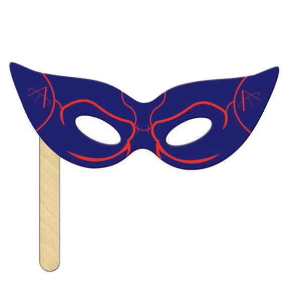 Personalized Digital Print Cat Mask on a Stick
