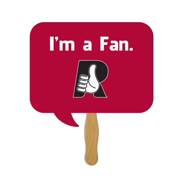 Personalized Square Thought Bubble digital econo fan
