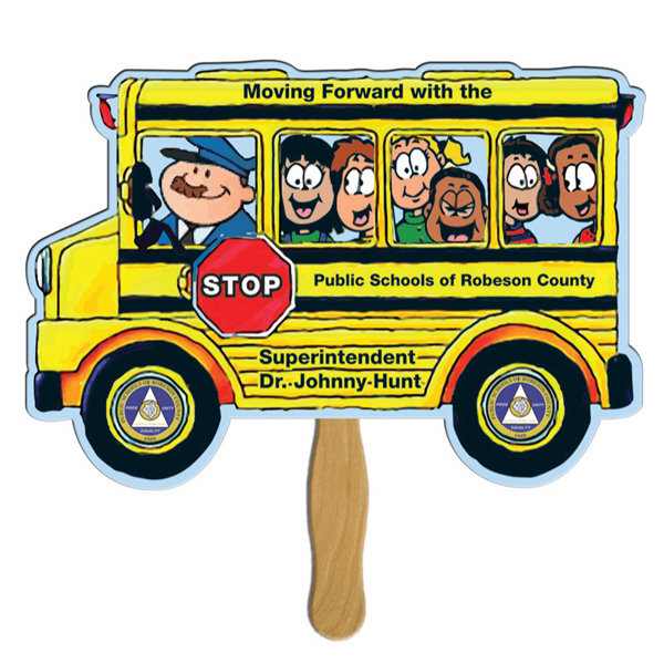 Promotional Bus full color fan