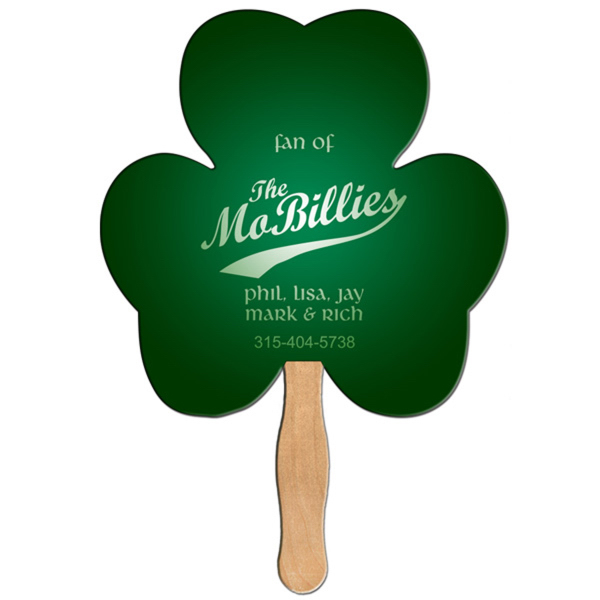 Printed Shamrock full color fan