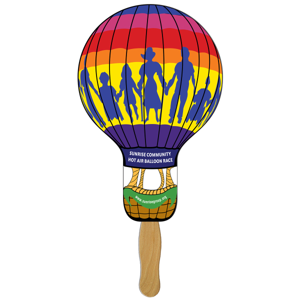 Promotional Balloon/Light Bulb digital econo fan
