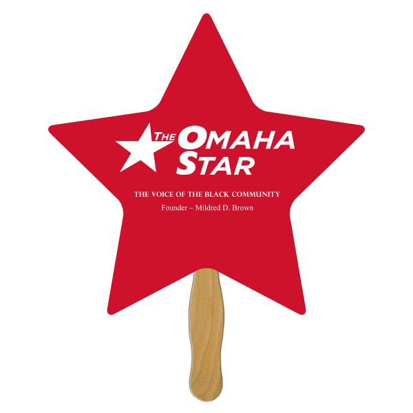 Imprinted Star full color fan