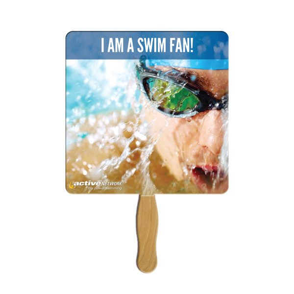 Personalized Square full color fan