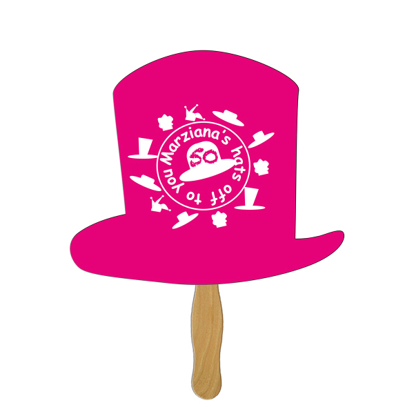 Printed Top Hat full color fan
