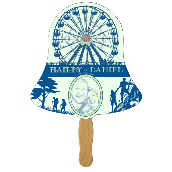 Personalized Bell full color fan