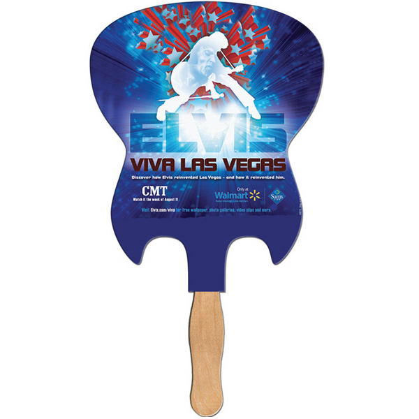 Promotional Electric Guitar full color fan