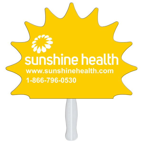 Printed Sun special shape fan