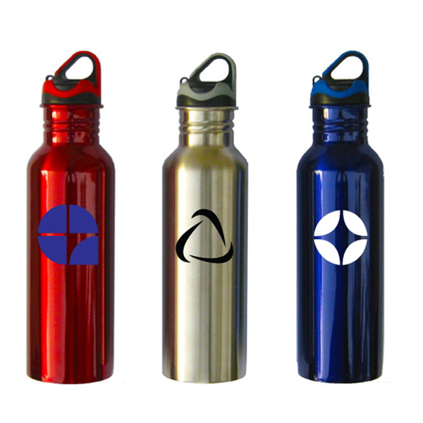 Imprinted Wide Mouth Stainless Steel Bottle