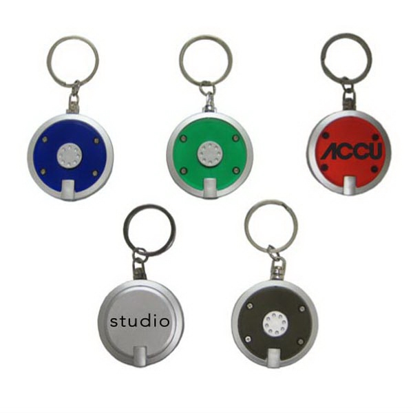 Customized Round LED Key Chain