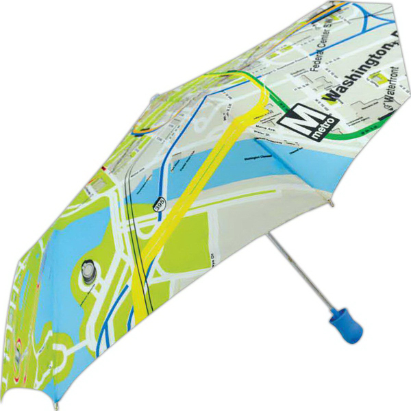 Custom Subway Automatic Open Umbrella With Washington, DC Metro Map