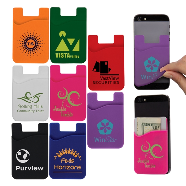 Personalized Cell Phone Card Holder