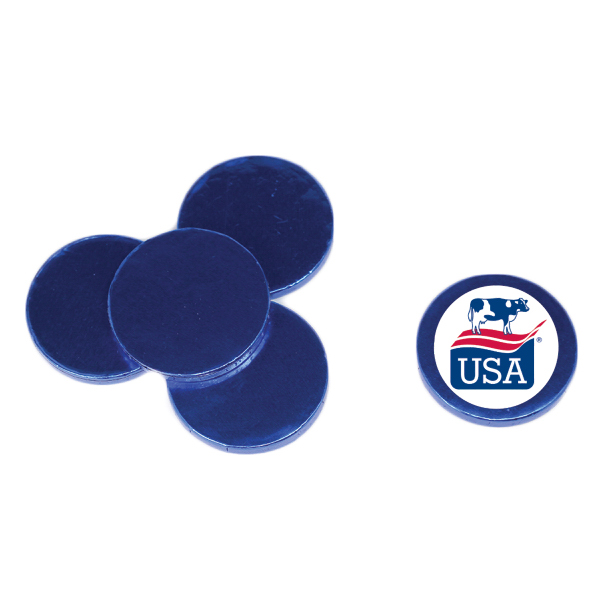 Printed Chocolate Coins - Blue