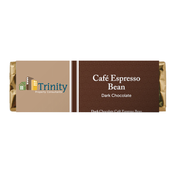Promotional Candy Bar - Cafe Espresso Bean Dark Chocolate Bar