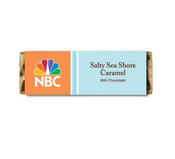 Custom Candy Bar - Salty Sea Shore Caramel Milk Chocolate Bar