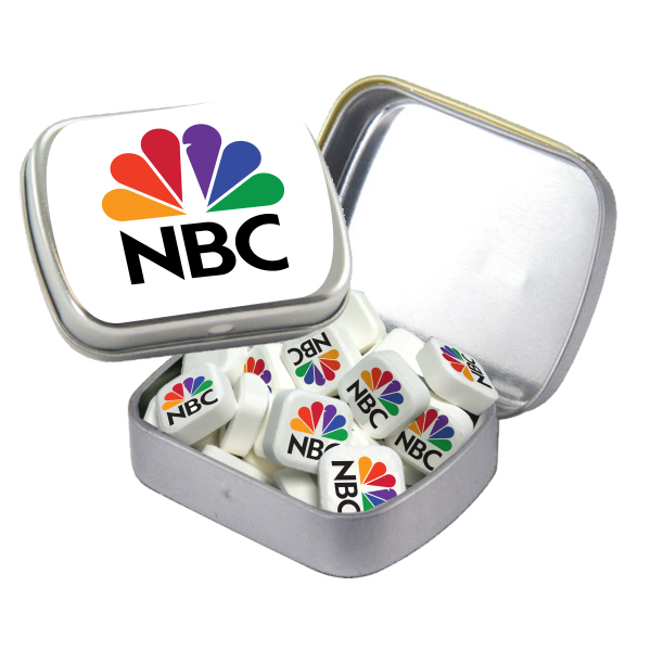 Printed Small White Mint Tin with Printed Mints