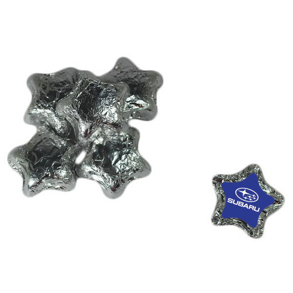 Personalized Chocolate Stars - Silver