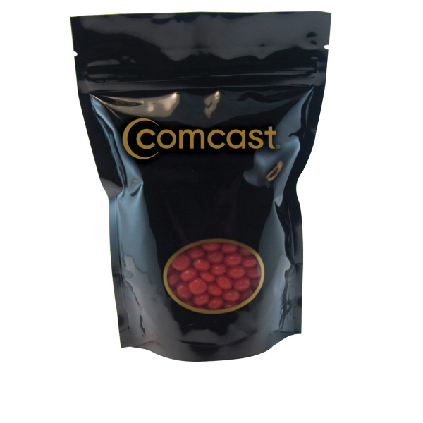 Promotional Large Window Bag with Cinnamon Red Hots - Candy - Black