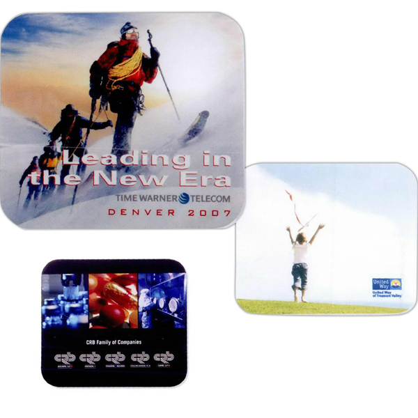 Promotional Full color recycled soft surface mouse pad