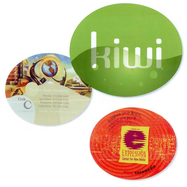 Imprinted Oval full color soft surface mouse pad
