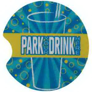 Printed Full color automotive cup holder coaster