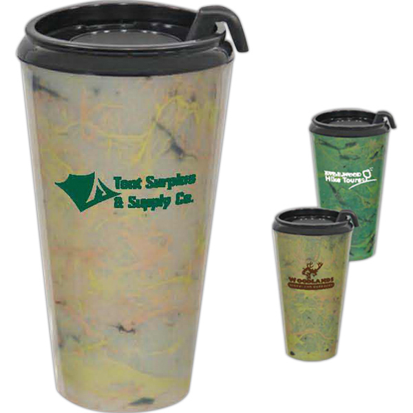 Personalized Camo Infinity Double Wall Tumbler - 16oz