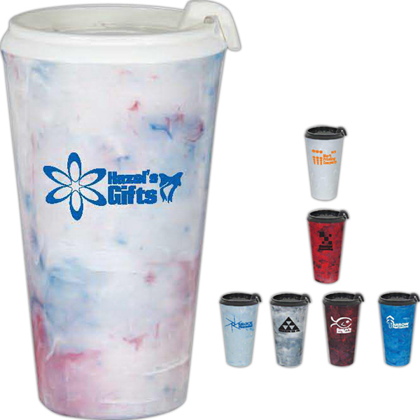 Custom Marbled Infinity Double Wall Tumbler - 16oz