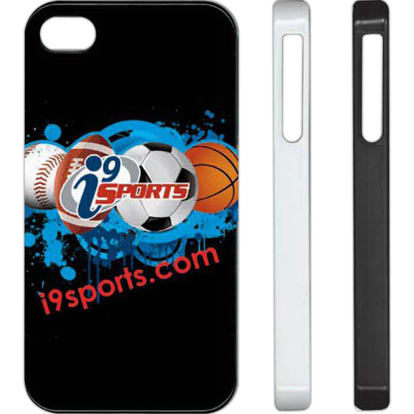 Custom Vcolor iPhone 4 black phone case