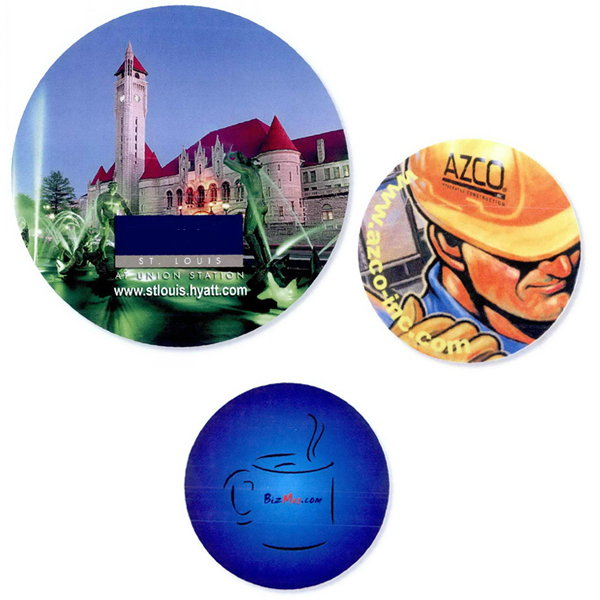 """Personalized Full color rubber coaster - 3 3/4"""" round"""