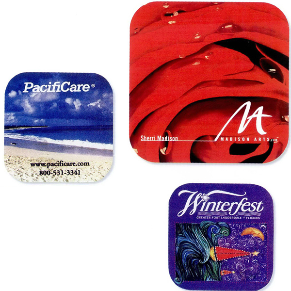 """Promotional Full color rubber coaster - 4 1/4"""" square"""