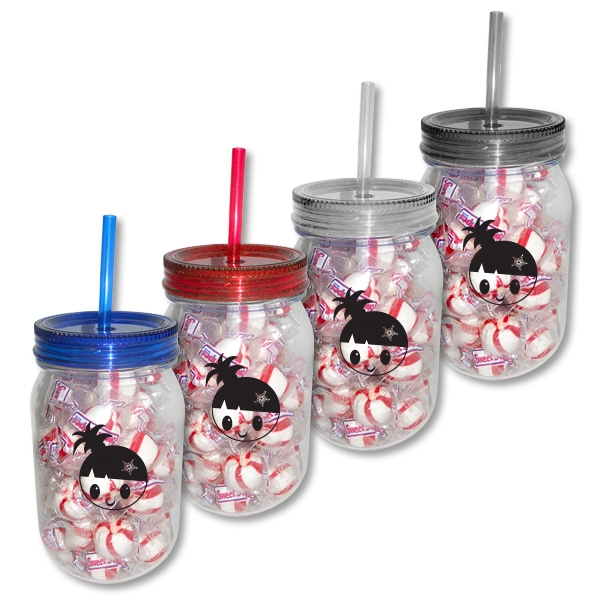 Custom Mason Jar with Candy Fill