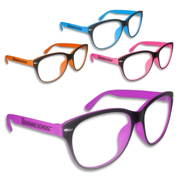 Customized Premium Clear Lens Neon Glasses
