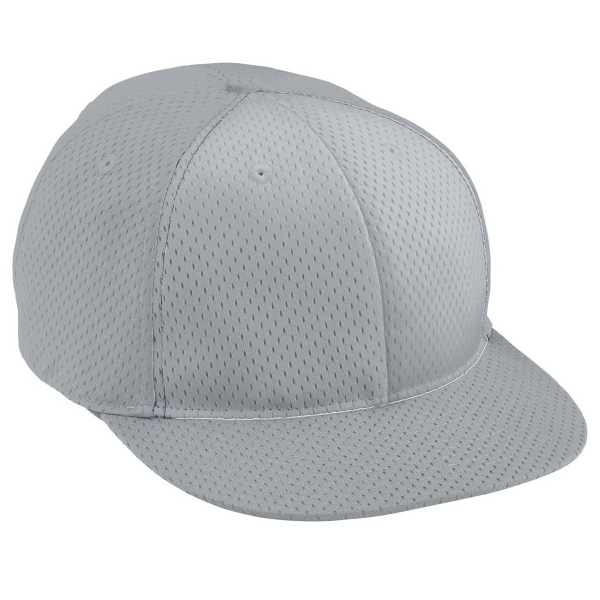 Printed Adult Athletic Mesh Flat Bill Cap