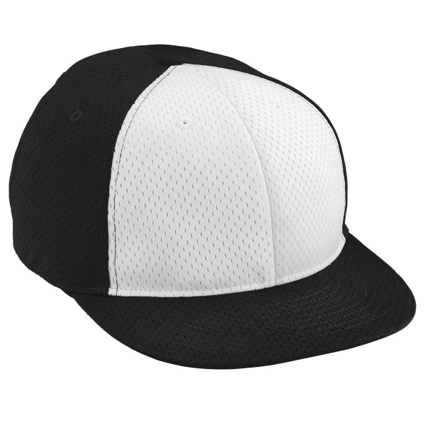 Imprinted Youth Athletic Mesh Flat Bill Cap