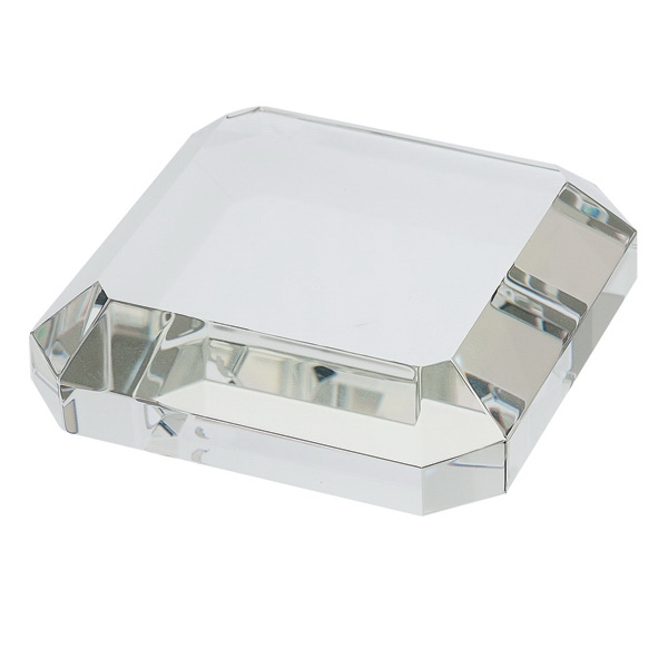 Printed Square Crystal Paperweight