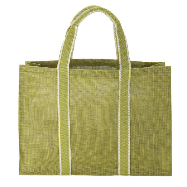 Printed Natural Jute Tote