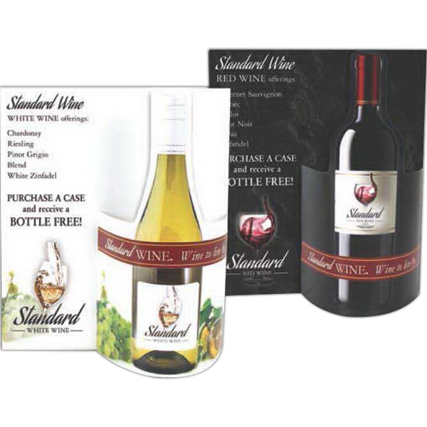 Imprinted White & Red Wine Combo Wave 3D Table Tent