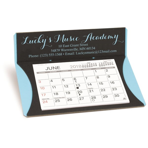 Personalized Crescent Desk Calendar