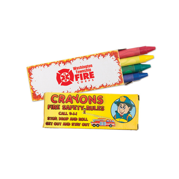 Custom 4 Pack of Fire Safety Crayons