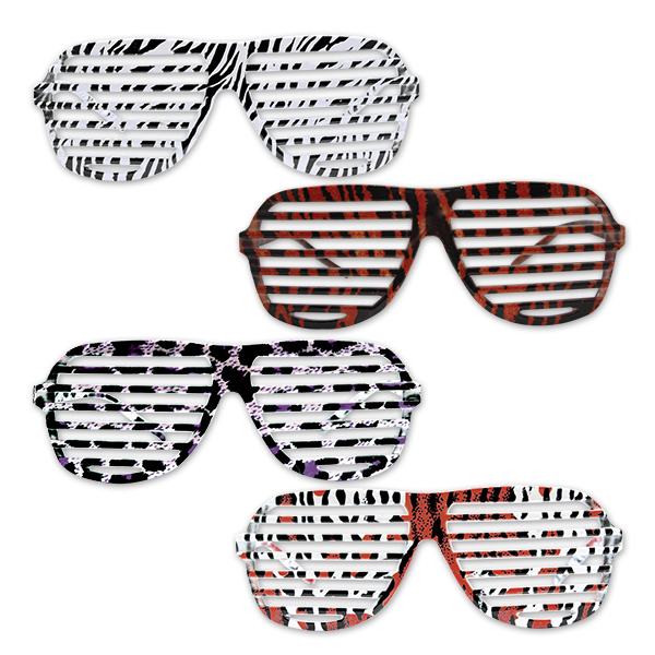 Imprinted Animal Print Slotted Glasses
