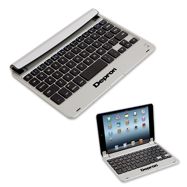 "Imprinted 7"" Universal Tablet Hard Case with Bluetooth keyboard"