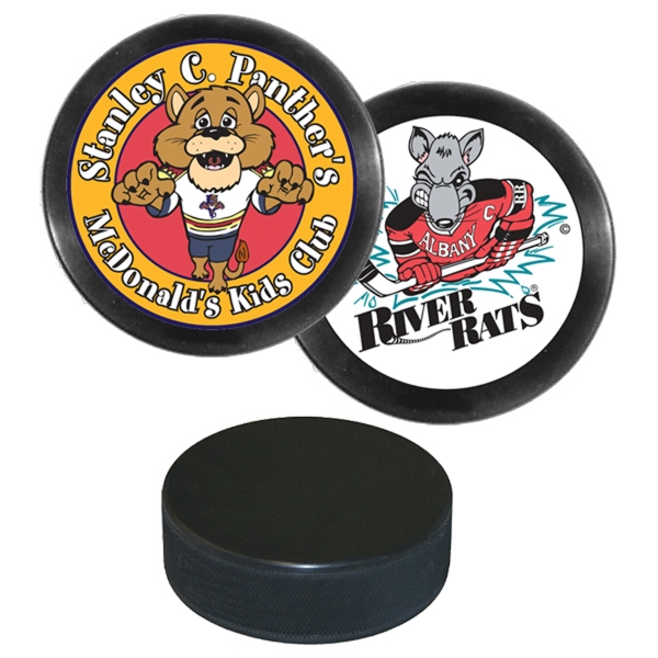 Customized Hockey puck with multi color imprint