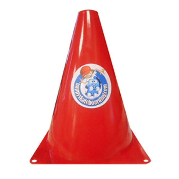Personalized 7 Inch traffic cone with multi color imprint
