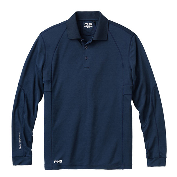 Imprinted Ping (R) Men's Switch Long Sleeve Polo