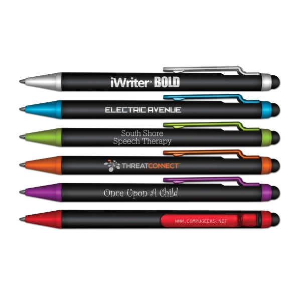 Imprinted iWriter BOLD Stylus & Retractable Ball Point Pen