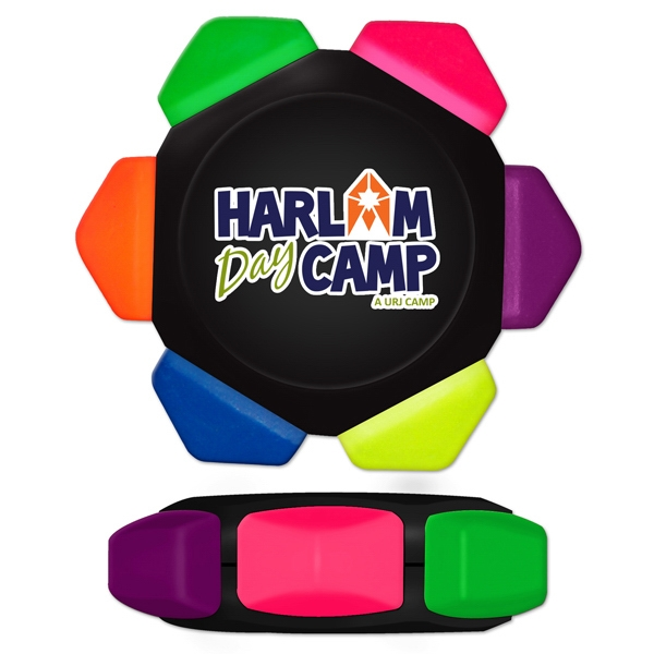 Printed Neon Crayon Wheel with Full Color Decal