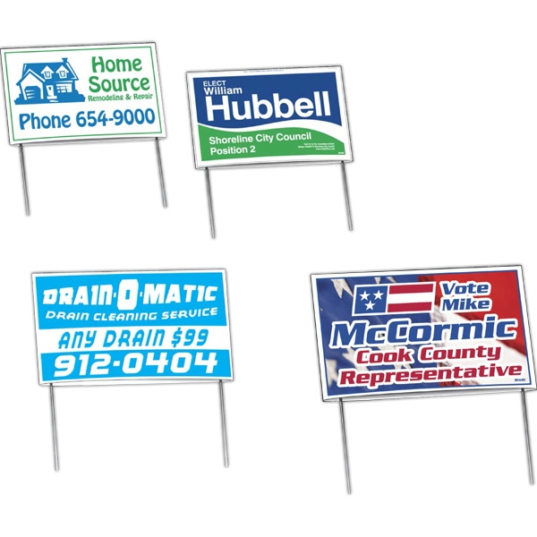 """Personalized Economy """"Patented"""" Double-Sided Yard Signs"""