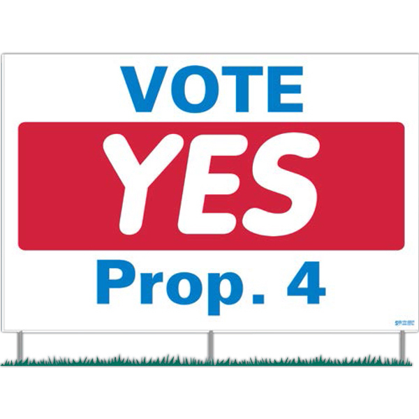 Promotional Corrugated Plastic Signs Four Piece Set - Sign And Rods